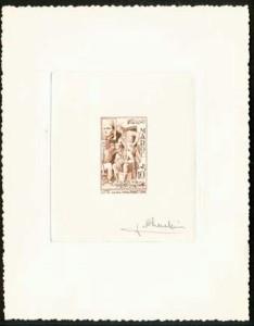 Epreuve d'artiste du 10F signée par Flandrin