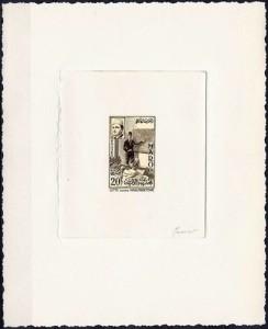 Epreuve d'artiste du 20F signée par Mazelin