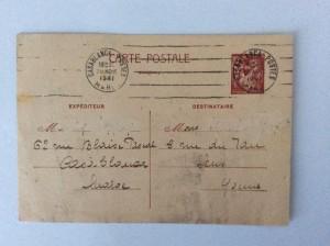 Entier postal au Type Iris avec valeur indiquée 80c