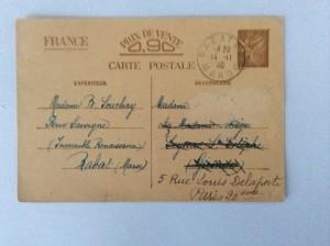 Emission au type Iris sans valeur de France mis en vente à partir de Septembre 1940