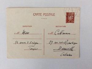 Entier postal au type Pétain 1F20 affranchi Tanger Chérifien