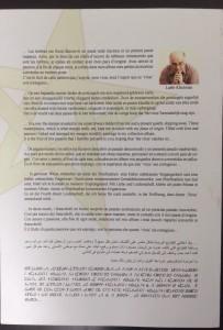 Message de l'auteur en Français, Flamand, Anglais, Espagnol, Allemand, Italien, Arabe et Berbère... 8 langues