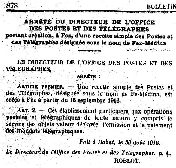 Bulletin Officiel 202 - Poste de Fez Médina