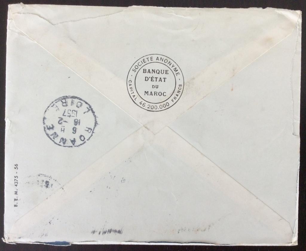 Dos de la lettre avec cachet d'arrivée à Roanne