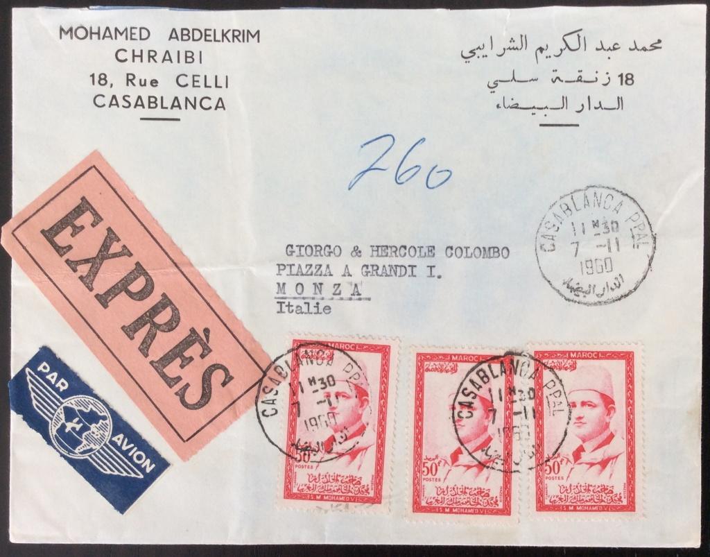 Lettre pour l'Italie au tarif de 150F