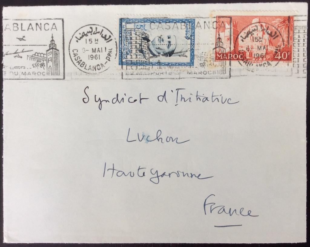 Lettre de 1961 pour la France avec affranchissement composé. Oblitération mécanique SECAP avec illustration