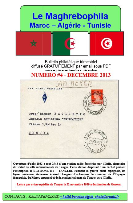 Couverture Maghrebophila n°4 12/2013